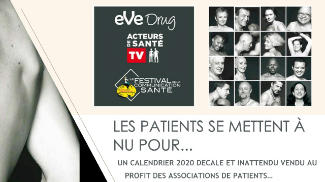 Affiche du calendrier patients - Les patients se mettent à nu pour...